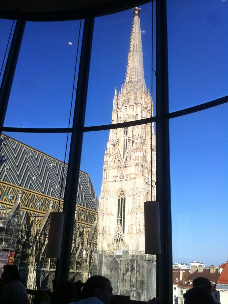DO & CO Hotel in Vienna, Austria with unriveled view of St. Stephan's cathedral. #feelaustria