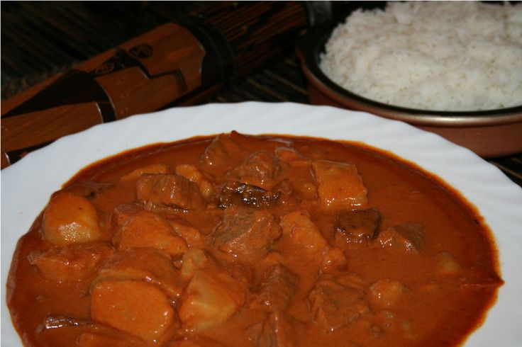 Senegal's Mafé (beef, tomato, peanut stew) -- would be so good with fufu