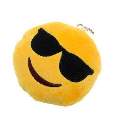 Porte clefs emoji smiley lunette de soleil 8 cm