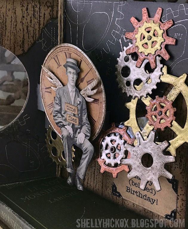 Pop Up Steampunk Birthday Card Birthday Cards Cards Handmade Pop Up Box Cards