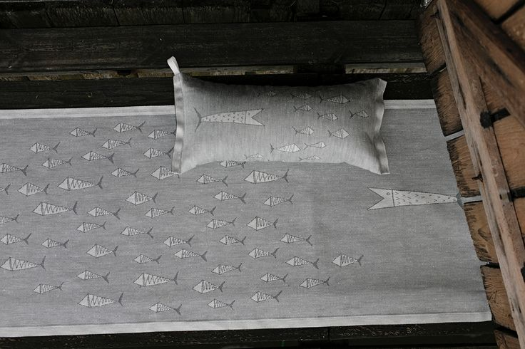 FISUT saunapillow and cover, woven in Finland by Lapuan Kankurit