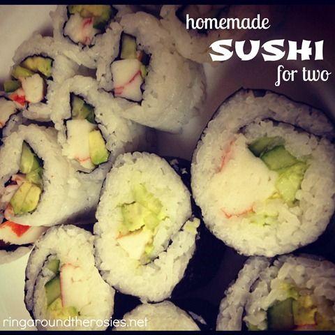 homemade sushi & date night inRecipe Food, At Home Dates Night, Food Good, Yummy Food, Date Nights, Sushi Yum, Recipese Food, Date Night Dinners At Home, Homemade Sushi