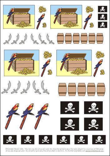FREE - printables pirates motifs