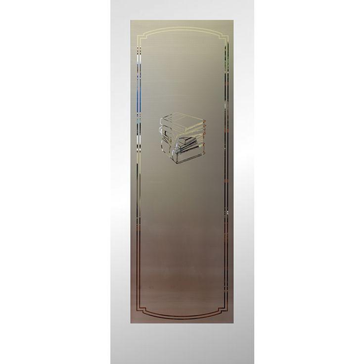 Reliabilt Frosted Glass Slab Interior Door (Common: 24-In X 80-In; Actual: 24-In X 80-In) 2480 Columbia Primed