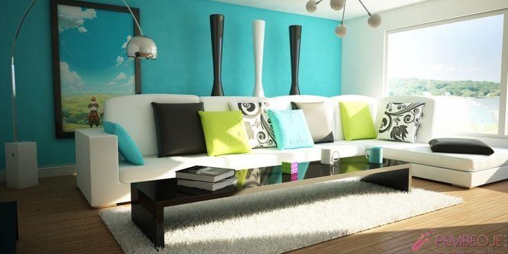 Ufak ve karanlık odalarınızda soğuk renkler, odayı daha geniş ve aydınlık göstererek duvarların arka planda kalmasına yardımcı olur. Alana daha aydınlatma etki
