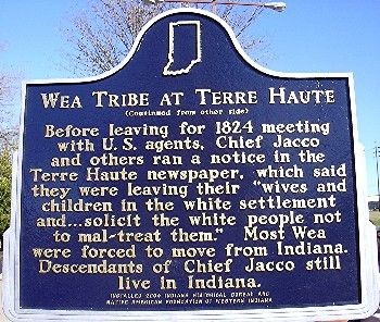 Wea Tribe at Terre Haute, Indiana