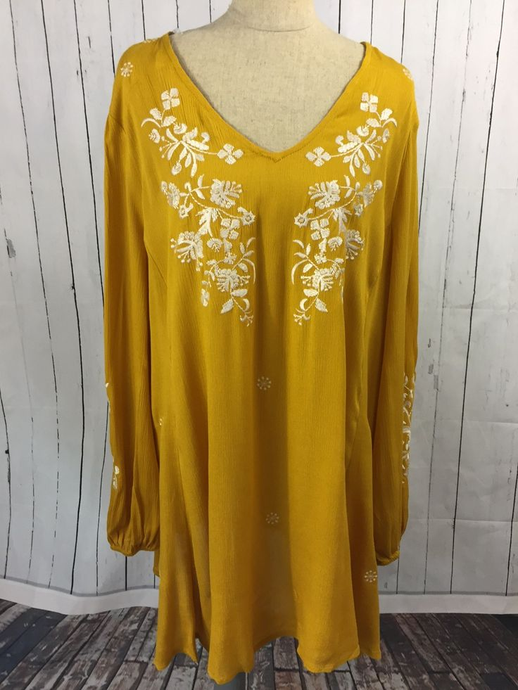 Plus Size Mustard Yellow Top with white embroidery detail  Women's Fashion boutique and style trends  www.laneylus.com  Boutique shopping outfit inspiration