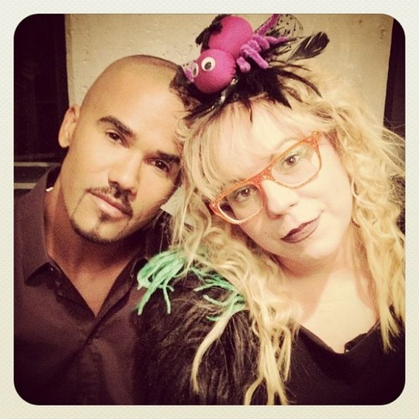 """Shemar Moore (@SFM420) tweets, """"My #1 Baby Girl on the set of CRIMINAL MINDS.. Season 8... New episodes start in a few weeks.."""""""