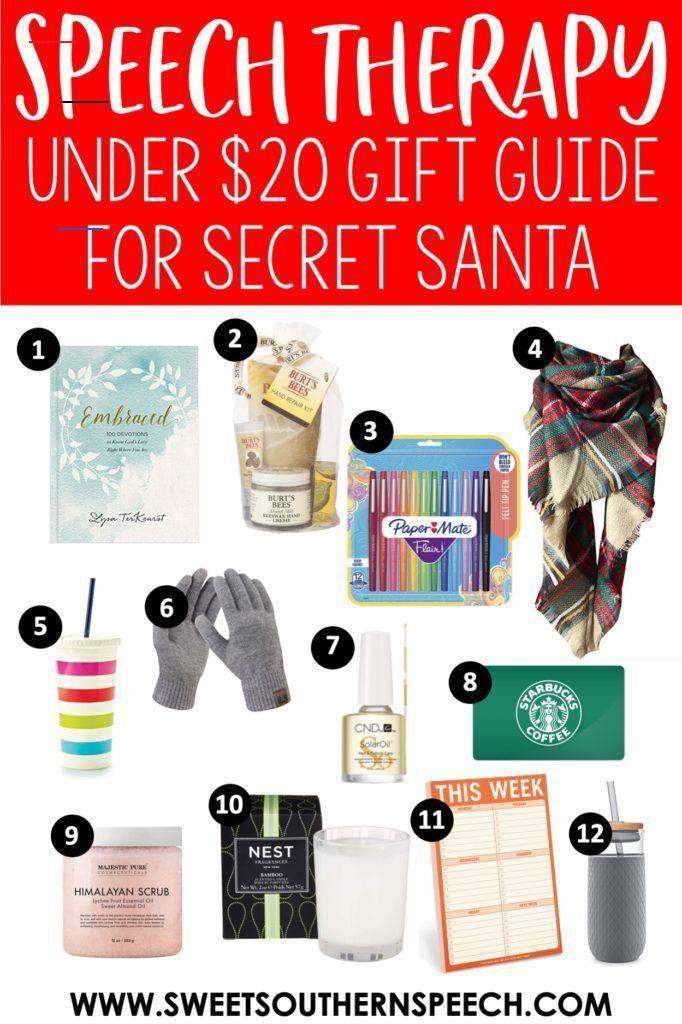 SLP Coworker Christmas Gift Ideas   Sweet Southern Speech
