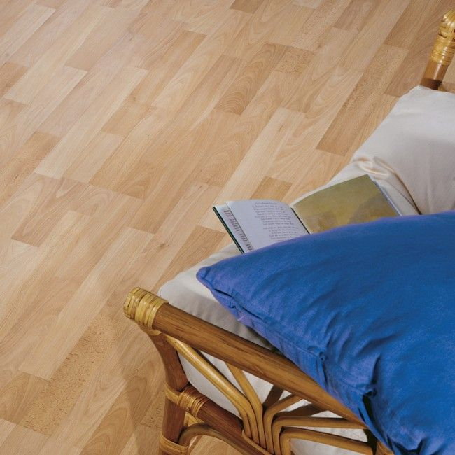 WAS: £5.35 per m² NOW: £4.81 per m²  £12.03 ea Save over 10%  Beech Effect 3 Strip Laminate Flooring   Krono Original   Kronoclic  Offering amazing value without compromising on quality, this budget beech effect laminate flooring is suitable for heavy day to day foot traffic throughout your home in areas such as the kitchen, lounge and dining rooms. #woodflooring #clearance #sale