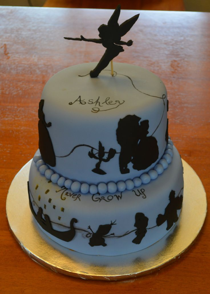 Disney Silhouette Cake With Beauty And The Beast Tangled