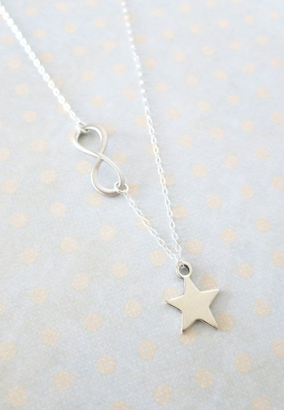 Petite Silver Star Infinity Necklace Sterling