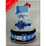 Nautical Baby Shower Diaper Cake Boat