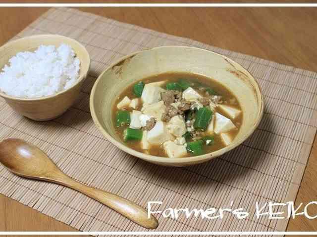 オクラと豆腐の和風スープカレーの画像