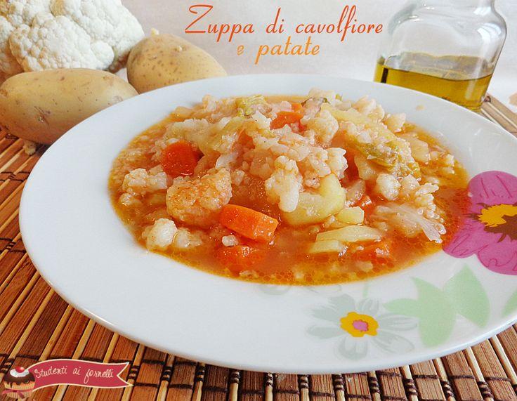 zuppa di cavolfiore e patate ricetta zuppa vegetariana