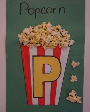 letter p pocorn craft