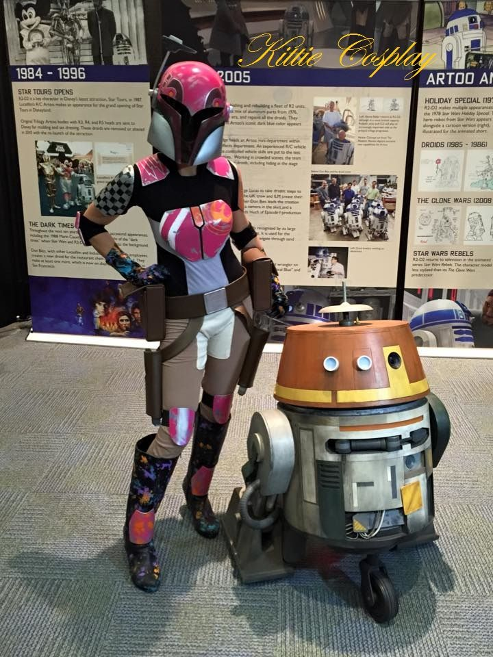 Sabine Wren Cosplay and Chopper from Star Wars Rebels. Star Wars Celebration… Image jm