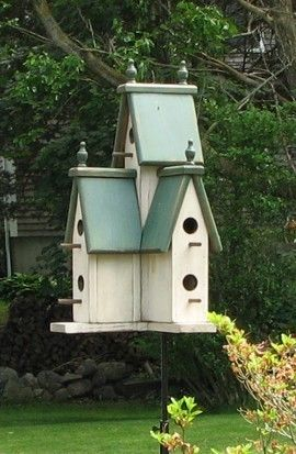 Wow, serious Victorian birdhouse on Etsy.