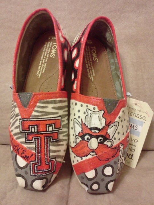 Texas Tech University Red Raiders hand by MyHeartToYourSole, $105.00