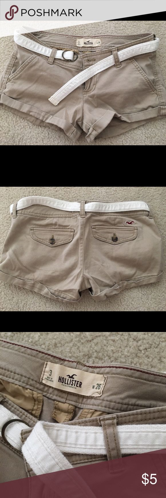 "Hollister Women Shorts Good condition. I am 5'7"" tall, it fitted well when I was 135 lbs😉 Hollister Shorts"