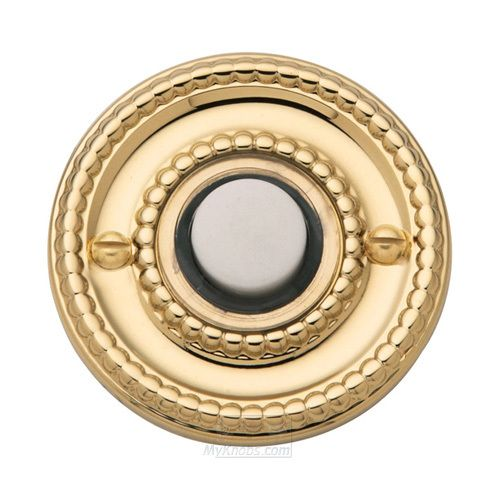 DoorKnobsOnline.com Offers: Baldwin BAL 94558 Door Bell Lifetime Pvd  Polished Brass Baldwin