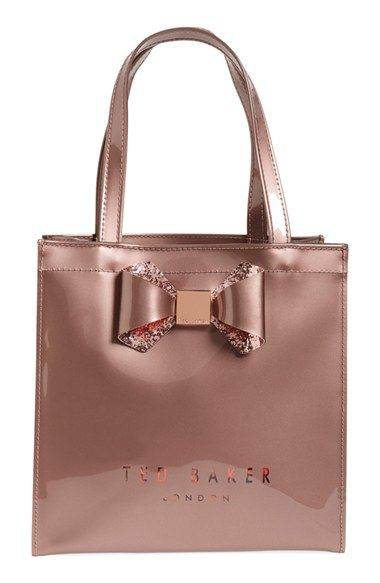 Ted Baker London 'Small Glitter Bow Icon' Tote available at #Nordstrom
