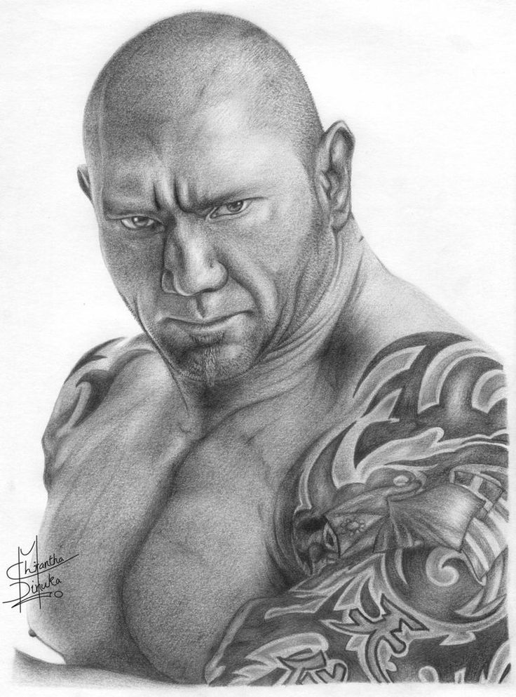 wwe fan art drawn with pencil | WWE Batista Pencil Drawing by ~Chirantha on deviantART