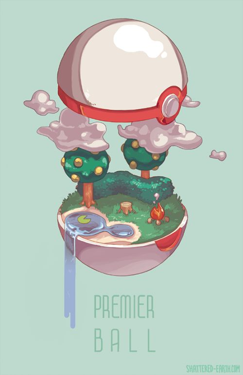 Pokémon Art Museum (shattered-earth: So the current set of pokeballs...)