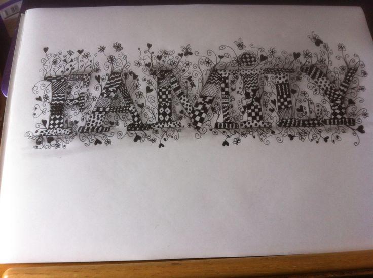 Zentangle Word Art Word Art Pinterest Words Word