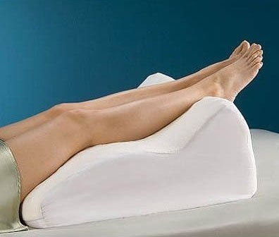 system bed wedge pillow leg