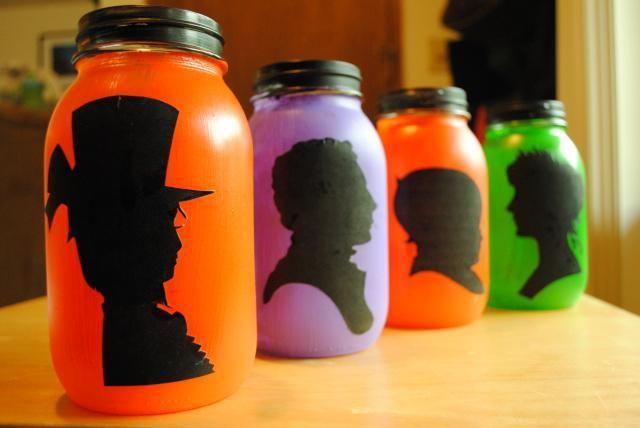 DIY Halloween : DIY Halloween Silhouette Lanterns : DIY Halloween Decor