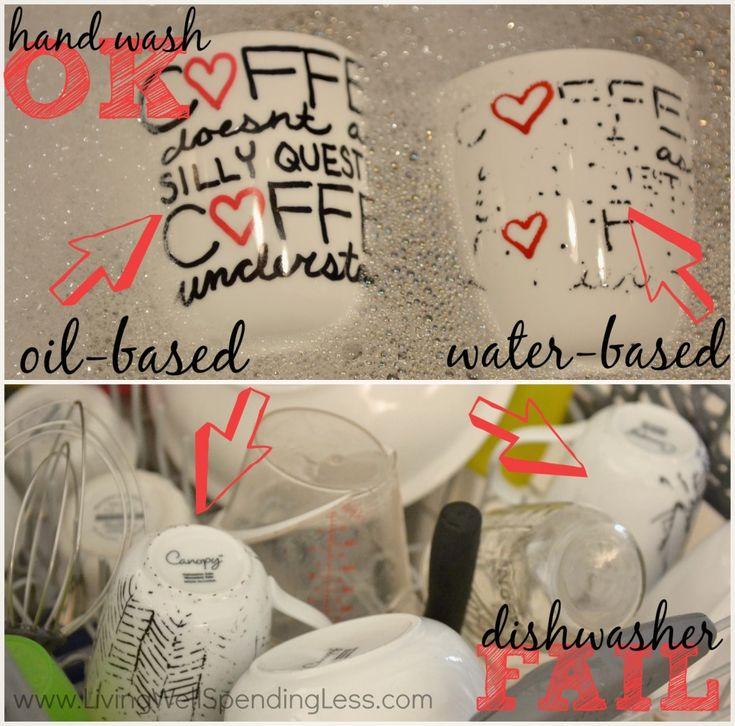 How to Make DIY Sharpie Mugs | Are Sharpie Mugs Dishwasher Safe?