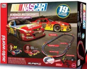 MegaHobby.com - Nascar Team Hendrick Motorsports Slot Car 19' Racing Set HO Scale Auto World, $127.06 (https://www.megahobby.com/products/nascar-team-hendrick-motorsports-slot-car-19-racing-set-ho-scale-auto-world.html)