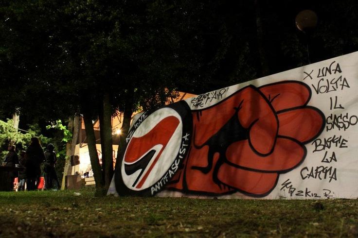 2012 - Street Art Antifa by Art in Progress. Per il quarto anno consecutivo i writers torneranno a pittare la VIlla Fermani per la Festa della Resistenza 2013