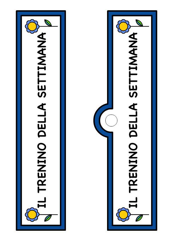 Il Treno della Settimana - Cartello Blu