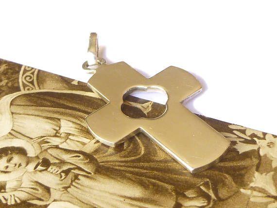 Pendentif croix simple en argent minimaliste moderne  Bijou
