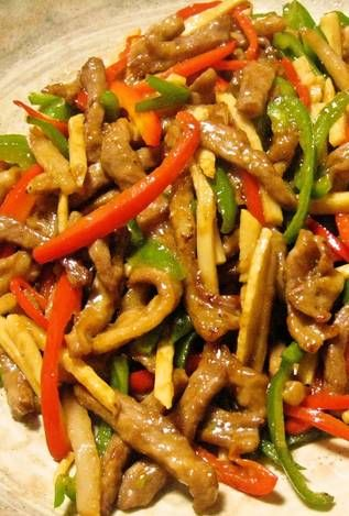 Authentic chinese food chinjao rosu beef and pepper stir fry authentic chinese food chinjao rosu beef and pepper stir fry recipe authentic chinese food stir fry and pepper forumfinder Images