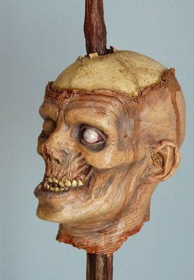 Zombie heads inspired the walking dead horror by ForbiddenScrolls