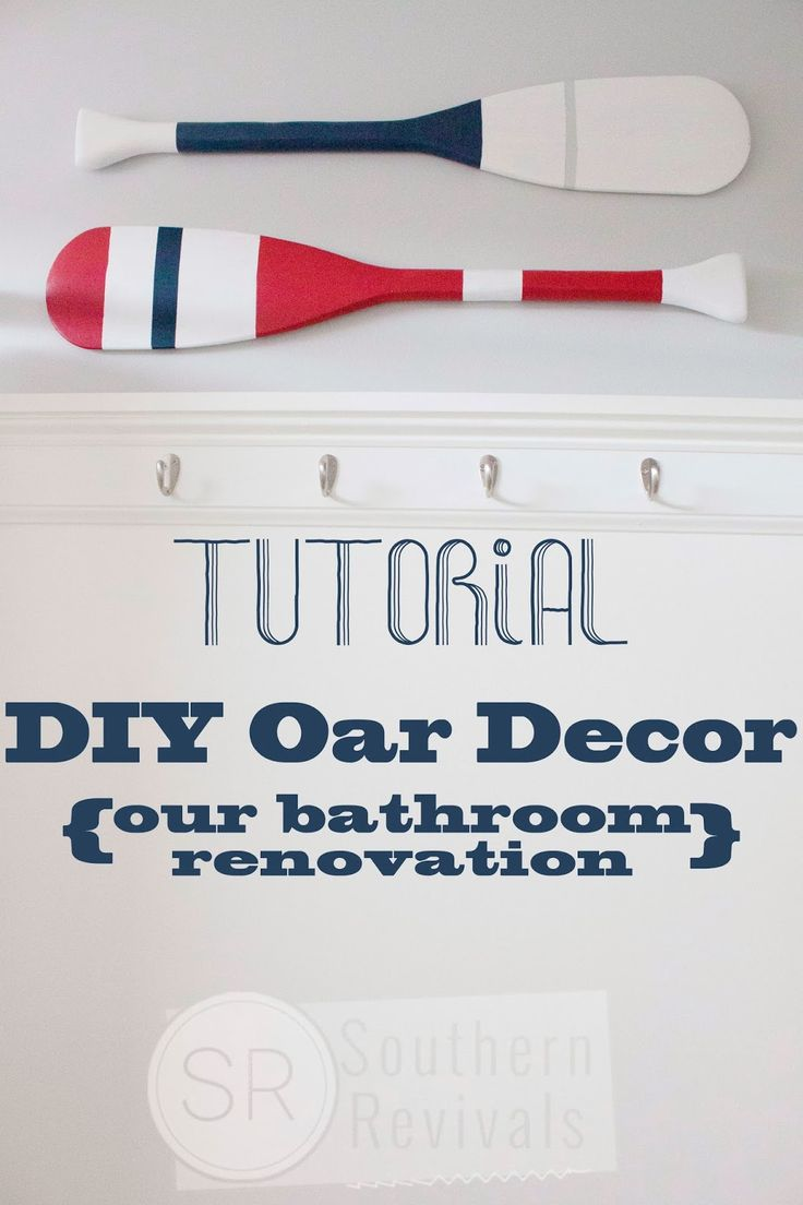 Southern Revivals | Tutorial: DIY Boat Oar Wall Décor with Cottonelle Toilet Paper and Cleansing Wipe Review.