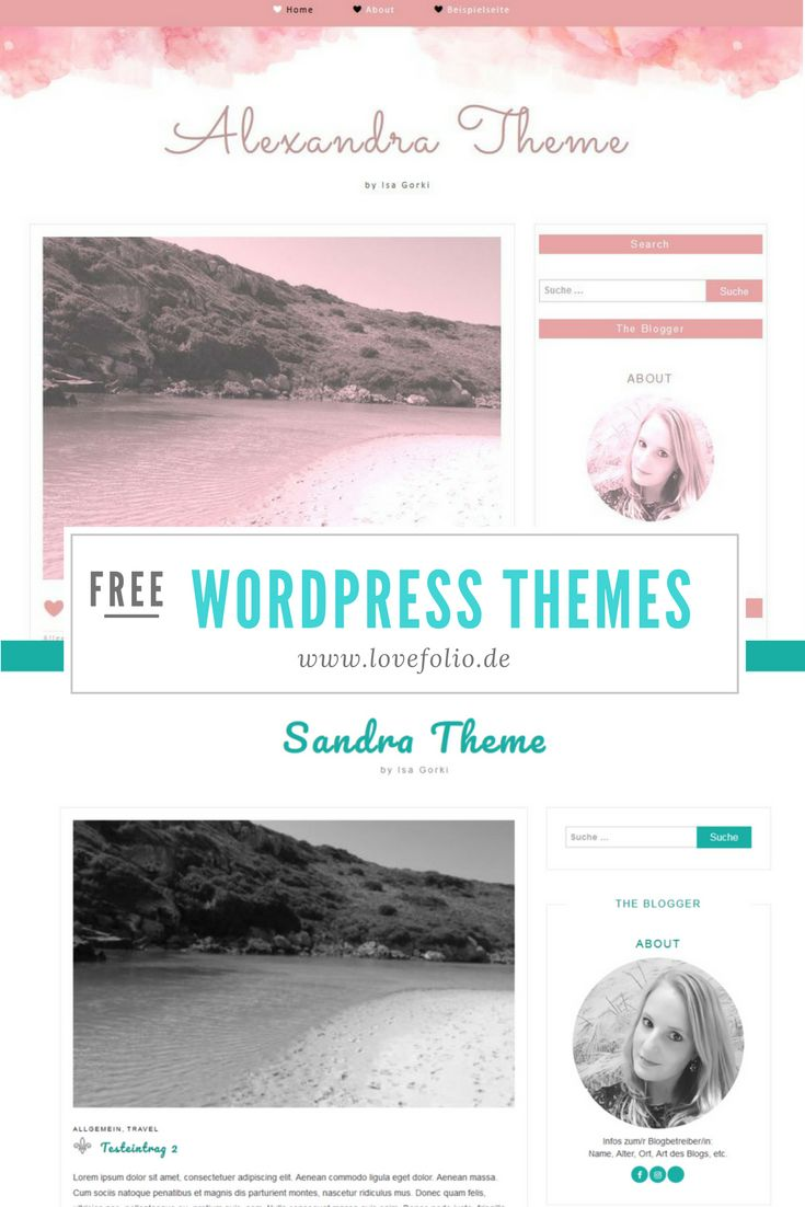 Kostenlose Wordpress Themes zum Download. Blogger Designs, Blogthemes