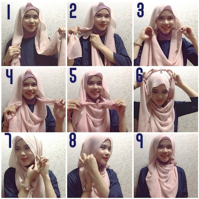 Beautiful Flowing Tie Back Hijab Tutorial