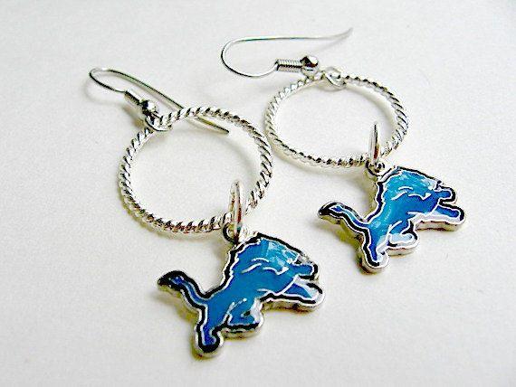 Detroit Lions Football Earrings Detroit Lions Jewelry
