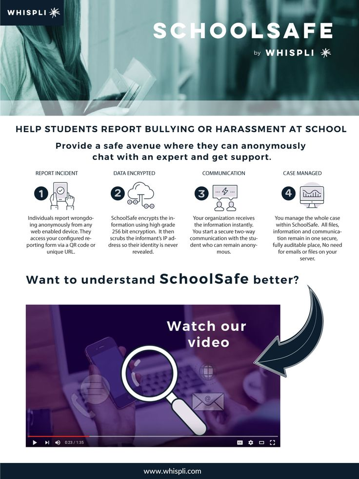 The Whispli platform allows students to report and keep communicating with you anonymously and safely.