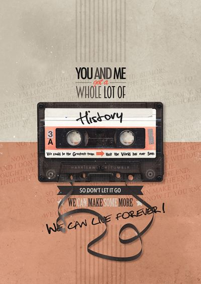 Made In the A.M. Lyric Posters →·History