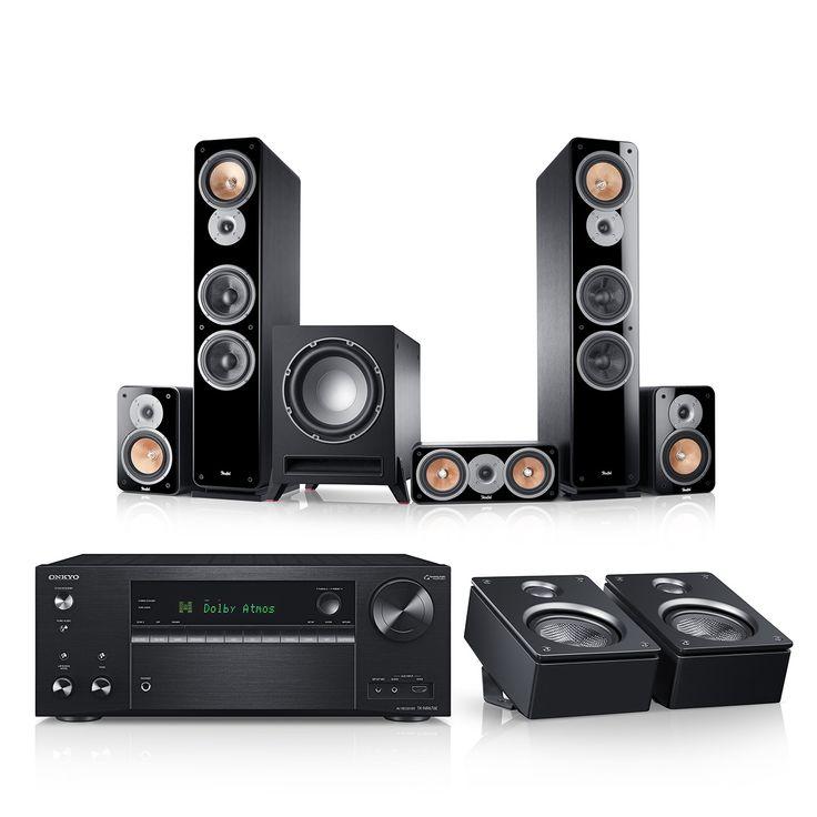 """Ultima 40 Surround AVR für Dolby Atmos """"5.1.2-Set"""" jetzt kaufen! Spielfertige 5.1.2-Komplettanlage inkl. Onkyo AV-Receiver und Dolby Atmos Höhenlautsprecher für ein Heimkino-Erlebnis der Extraklasse ✔ Inhalt des Komplett-Sets: 2 x Standlautsprecher Ultima 40 Mk2, Center, Subwoofer, 2 x Rear-Lautsprecher, Onkyo Receiver NR-676E, 2 x Reflekt Dolby Atmos Lautsprecher, Kabel-Set! Spielfertig und aufeinander abgestimmt, es werden keine weiteren Komponenten oder Kabel benötigt"""