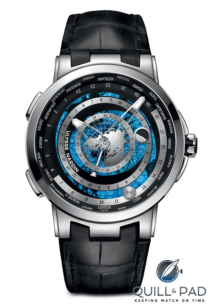 Ulysse Nardin Executive Moonstruck Worldtimer in platinum