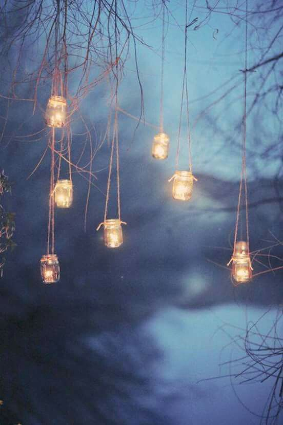These lights make me think of the fairies in Neverland, or the lights/decorations in the forest.