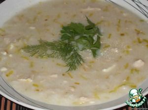 Английский куриный суп с сыром