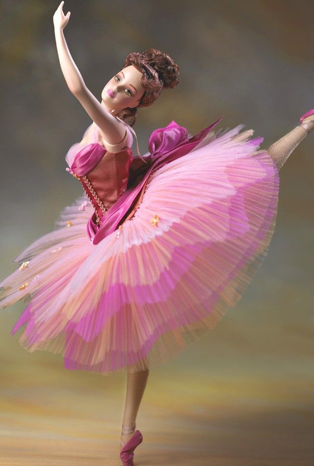 Classic grace barbie doll barbie collector inspired by colorful ballerina paintings of edgar - Barbie ballerine ...