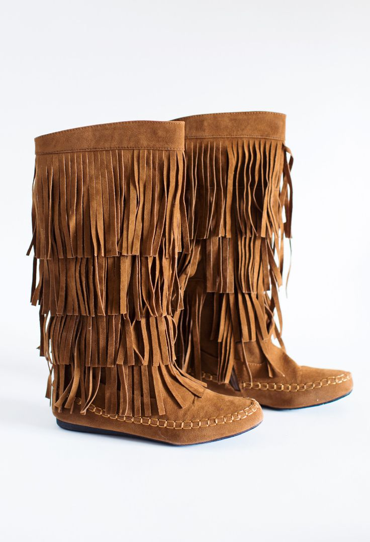 Add a little flair to your outfit with these fun fringe boots! We do recommend sizing a 1/2 size up.